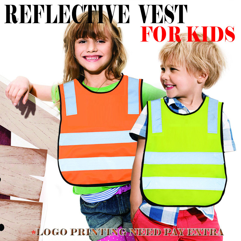 high visibility school pupil child children kids reflective safety traffic vest cycling biking running jogging vest waistcoat high quality safe reflective vest belt for women girls night running jogging biking
