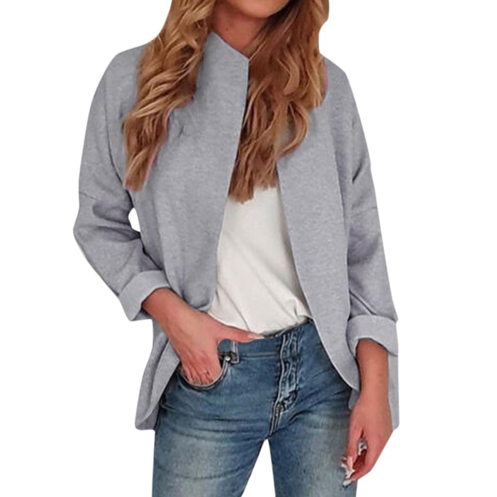 JAYCOSIN coat Women Open Front Long Sleeve Coat Jacket Parka Outwear Cardigan lightweight Loose  Coat Tops