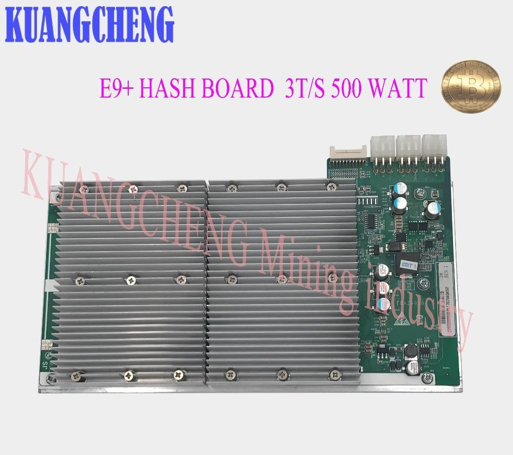 KUANGCHENG Ebit E9+ Accessor Hash Board Sha256==3T/S 500 Watt The 14nm Asic Miner Btc Miner Lower Power Than Antminer S5 S7