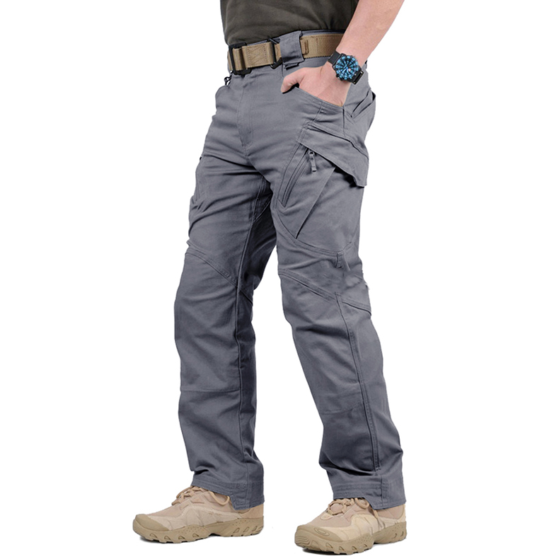 TACVASEN IX9 City Tactical Pants Mens Multi Pockets Cargo Pants Military Combat Cotton Pant SWAT Army Casual Trousers Hike Pants