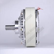 6Nm 0.6kg DC 24V One Single shaft 12MM 1400RPM Magnetic Powder Brake unwinding For Tension control Bag printing dyeing machine