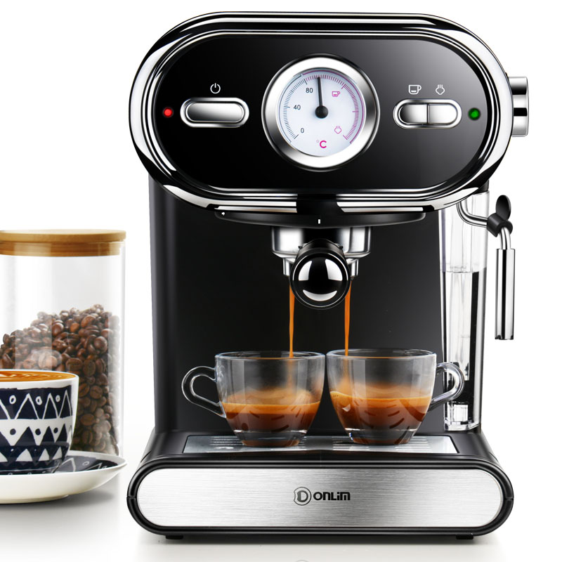 Italian Coffee Machine Household Small Manual Semi-automatic Steam Type Pump Pressure 20Bar