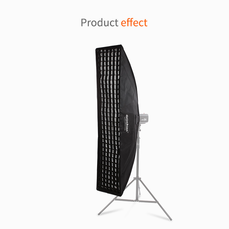 цены на Godox 35cm*160cm Strip Beehive Honeycomb Grid Softbox with for Bowens Mount Studio Strobe Flash Light Photography Lighting