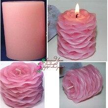 PRZY Hochzeit kerzen silikonform 3 d rose silikonform Blütenblätter seife mould kunst kerze formen