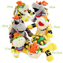 17-35cm Koopa Bowser Plush cartoon toys Hot Game Super Mario Bros Koopa Bowser 6styles cute soft stuffed gray yellow koopa doll