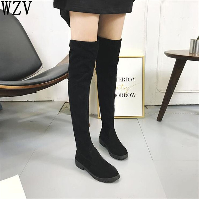 2018 Women S Winter Shoes Knee High Boots Plus Big Size High Quality