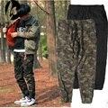 Estilo militar camuflagem calças 2017 de moda de nova verão hip hop baggy harem calças dos homens dos ganhos moletom exército
