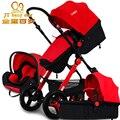 2017 3 в 1 детские коляски свет малолитражного автомобиля спальные корзины новорожденных детские коляски 0 ~ 36 месяцев Европе детская коляска перевозки пять цвет
