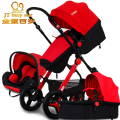 2017 3 in 1 baby strollers light baby car sleeping basket newborn baby carriage 0~36 months Europe baby pram carriage five color