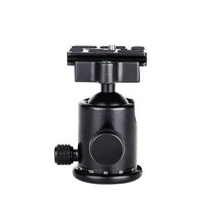 Image 5 - Manbily KB 0 kamera tripodu Topu Kafa Alüminyum Ballhead Panoramik Kafa sürgülü ray Kafa W 2 Dahili Ruhu Seviyeleri DSLR Çekim