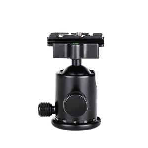 Image 5 - Штатив Manbily для камеры с шаровой головкой, алюминиевый шаровой головкой с панорамной головкой, раздвижная рельсовая головка с 2 встроенными уровнями духов для DSLR съемки