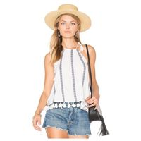 FS Hot Women S New Fashion Europe And America Style Cami Trim T Shirt Sexy Pleated