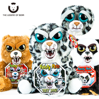 2017 New Arrival Feisty Pets Christmas Gift Change Face Roar Stuffed Animal Doll Plush Toys For
