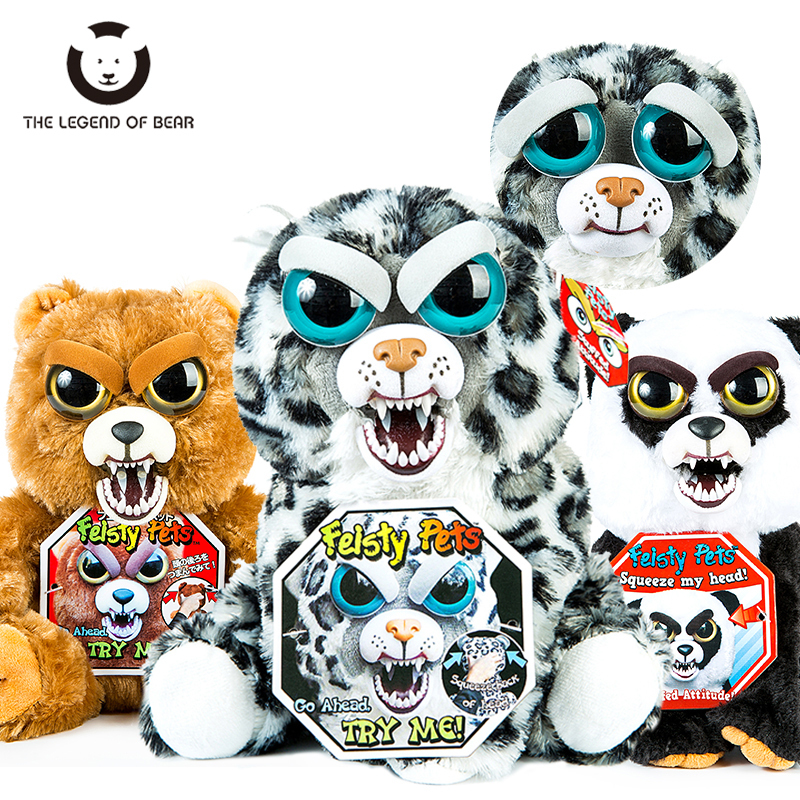 2018 New Arrival Feisty Pets Christmas Gift Change Face Roar Stuffed Animal Doll Plush Toys For Kids Cute Children Funny toys