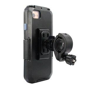 Image 3 - Wasserdicht Telefon Halter Für iPhone11 Pro Max X XR XS MAX 8 7Plus SE Motorrad Telefon Stehen Unterstützung Fahrrad GPS Rüstung Fall Moto