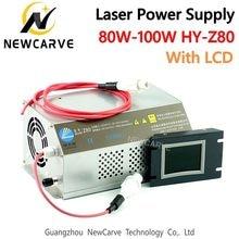 80 w 100 fonte de alimentação do laser co2 monitor AC90-250V para gravação a laser máquina corte HY-Z80 newcarve