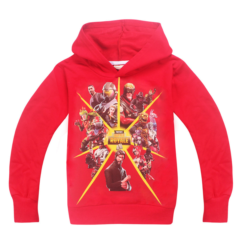 Fortnite Kids t shirt 2018 Summer Tops long Sleeve tshirt For Girls Boys Tees Children clothes for girls 8 10 11 12 13 14 Years