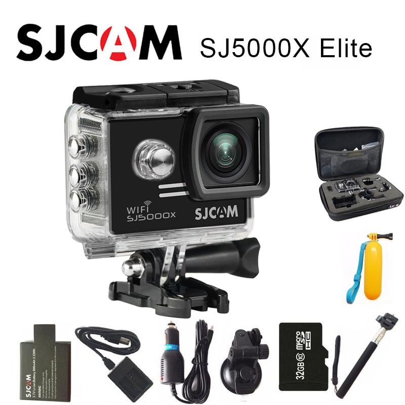 Оригинальный SJCAM SJ5000X Elite Action Камера 4 К Спорт DV Wi-Fi гироскопа Дайвинг 30 м Водонепроницаемый SJ cam мини видеокамера 2 Экран ntk96660