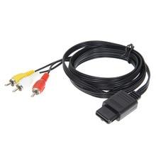 Высокое качество 180 см 6 футов AV ТВ RCA видео шнур, кабель для игры куб/для SNES GameCube/для nintendo для N64 64 цена