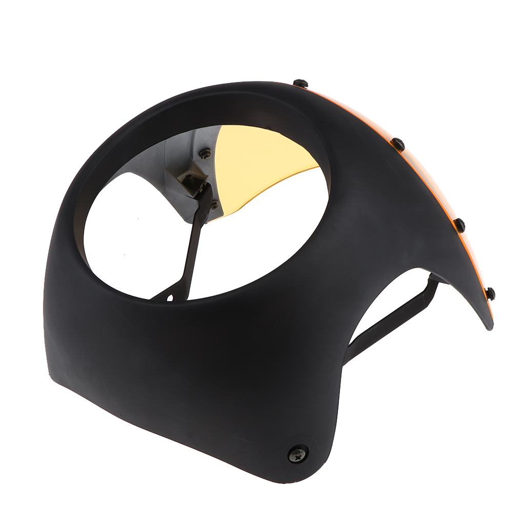 Motorcycle 16.5cm-18cm Headlight Fairing Screen Cover for Retro Cafe Racer