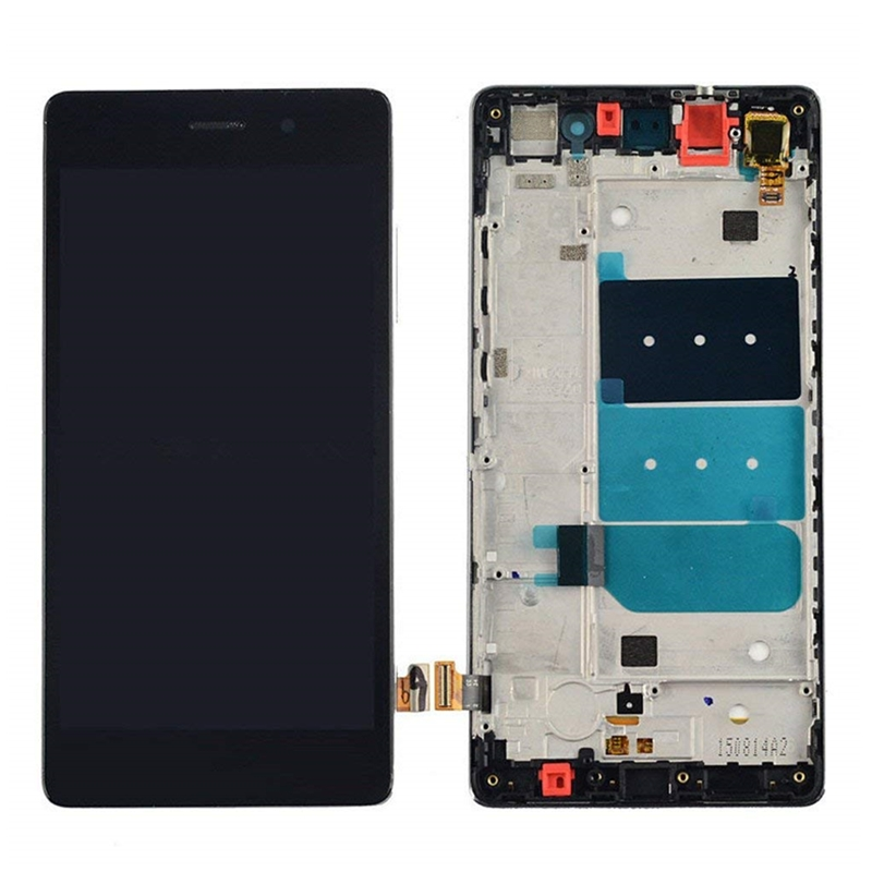 For Huawei Ascend P8 Lite 2015 ALE-L04 L21 TL00 L23 CL00 L02 LCD Display Touch Screen Digitizer Assembly Replacement With Frame