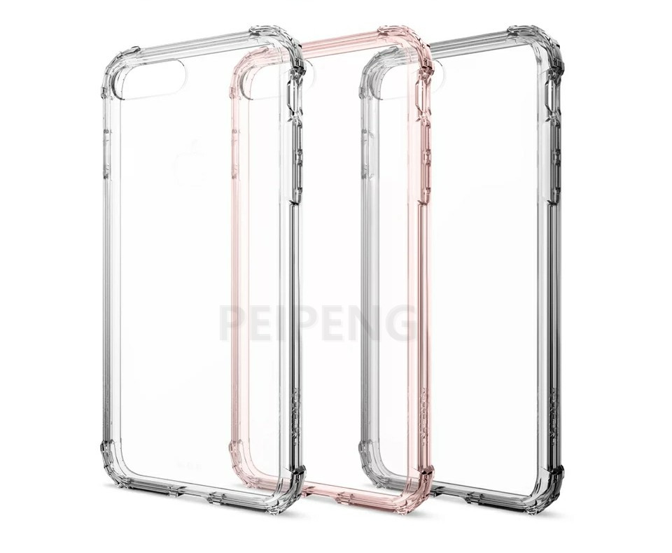 PEIPENG  Luxury phone CaseThickened anti-fall For iPhone XS MAX XR X Ultra Thin Transparent Back Case For iPhone 6 6s 7 8Plus Simple 13