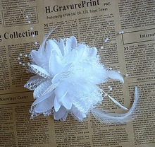 M MISM Women Fascinator Cocktail Hair Clips Flower Mesh Feather Bands Ladies Elegant Accessories For Wedding Party