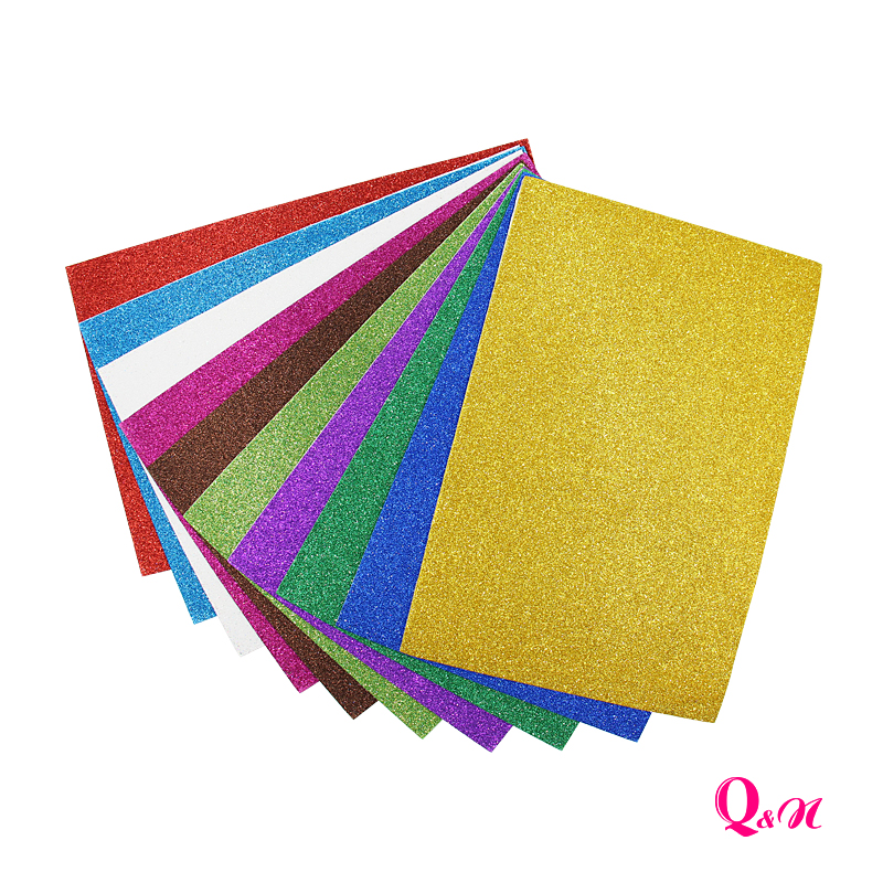 10pcs Self-Adhesive Sponge Paper Glitter Flash Gold Handcraft Foam Paper Sticker Sheets DIY Xmas Decoration