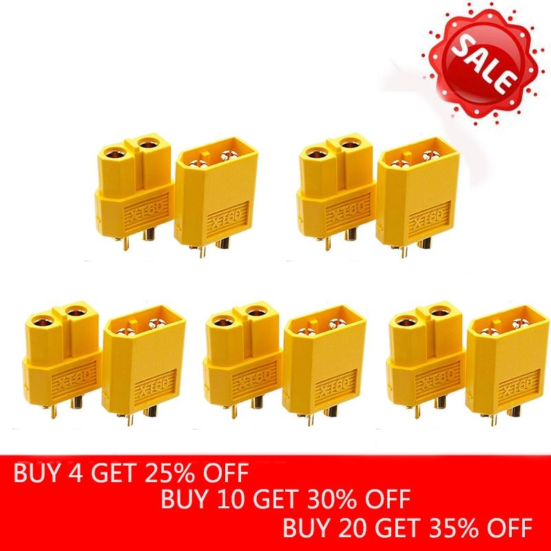 10pcs (5 Pair) Wholesale XT60 XT-60 Male Female Bullet Connectors Plugs For RC Lipo Battery Imax B6 Battery Accessories