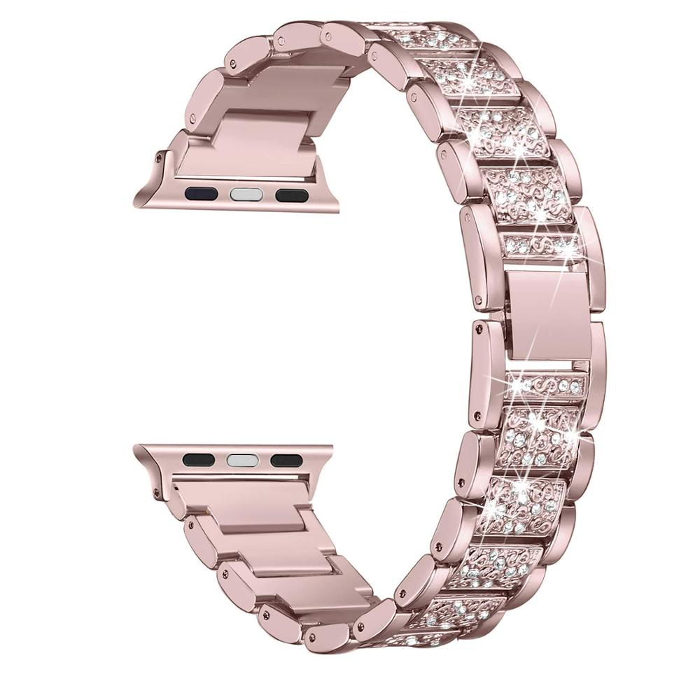 Lady Strap For Apple Watch Band 40mm 44 Mm IWatch Band 38mm 42mm Bling Stainless Steel Bracelet Strap Apple Watch 5 4 3 21 38 40