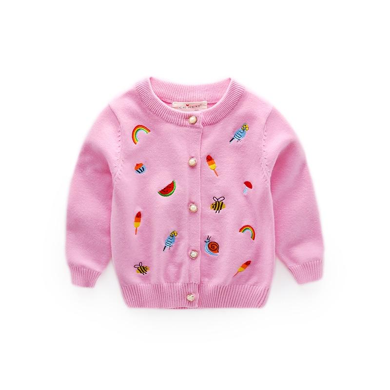 Baba lányok téli kötött pulóverek lányok szivárvány és állati ... 64ea632649