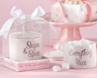 10PCS LOT Free Shipping By Fedex Sugar Spice Everything Nice Ceramic Sugar Bowl Novelty Wedding Favors