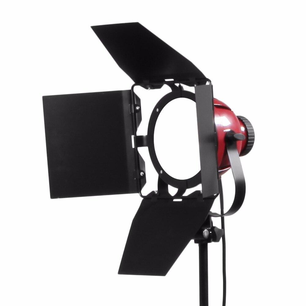 50 W 5500 K éclairage photographique Dimmable continu Compact Studio lumière stroboscopique éclairage lampe tête pour caméra Photo vidéo