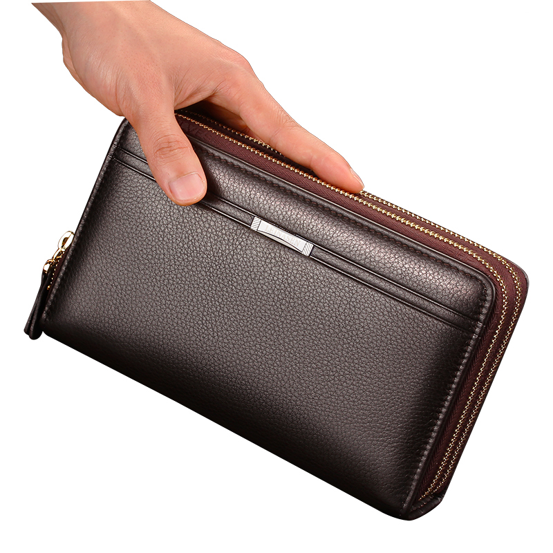 Hot Sale Men Wallet Black Brown Dollar Price Money Clip Clutch Bag Men's Purses PU Leather Wallets Man Long High Quality