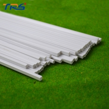 scale  ABS smooth square tube,Dia 5.0mm length 50cm Bar for architectural model Layout making materials