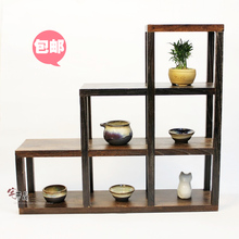 Paulownia wood burning shipping Desktop Storage Rack Shelf small curio shelf Shelf racks