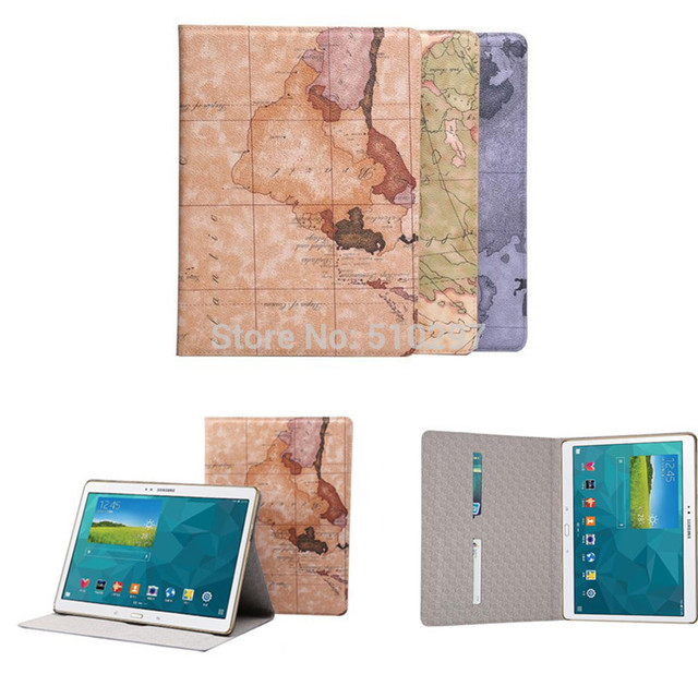 DS High quality Nautical maps Style case PU Leather Stand Book Cover for Samsung Galaxy Tab S 10.5 (SM-T800 SM-T805)