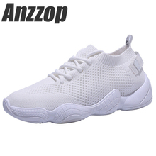 ANZZOP 2019 new ins super fire stretch socks shoes female Korean version of the tide ulzzang fly woven sneakers old