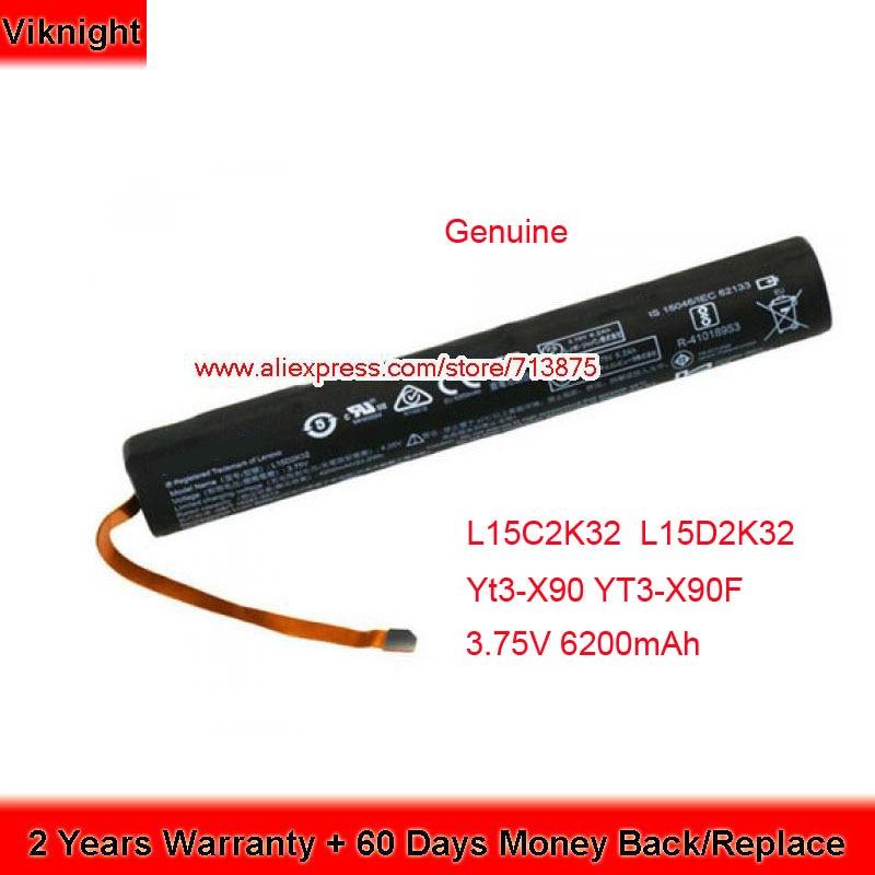 Genuine 3.75V 6200mAh L15D2K32 Battery For lenovo Yt3-X90 YT3-X90F YT3X90F L15C2K32 Genuine 3.75V 6200mAh L15D2K32 Battery For lenovo Yt3-X90 YT3-X90F YT3X90F L15C2K32
