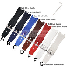 Black Silicone Rubber Watchband for Casio GST-W300G/W300/S300G/S300/S210B/S100G/S110/W100/W-110 Rubber Watch Strap+Tool