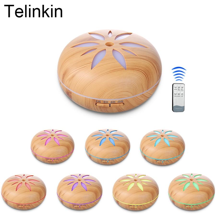 550 ml Fernbedienung 7 farbe LED lampen Air Aroma Elektrische Luftbefeuchter für zuhause Ultraschall Ätherisches öl diffusor nebelhersteller