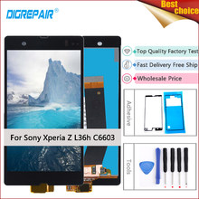 For Sony Xperia Z LCD L36h L36i C6606 C6603 C6602 C6601 C660X LCD Display Digitizer Touch Screen Part For Xperia Z C6603 display(China)
