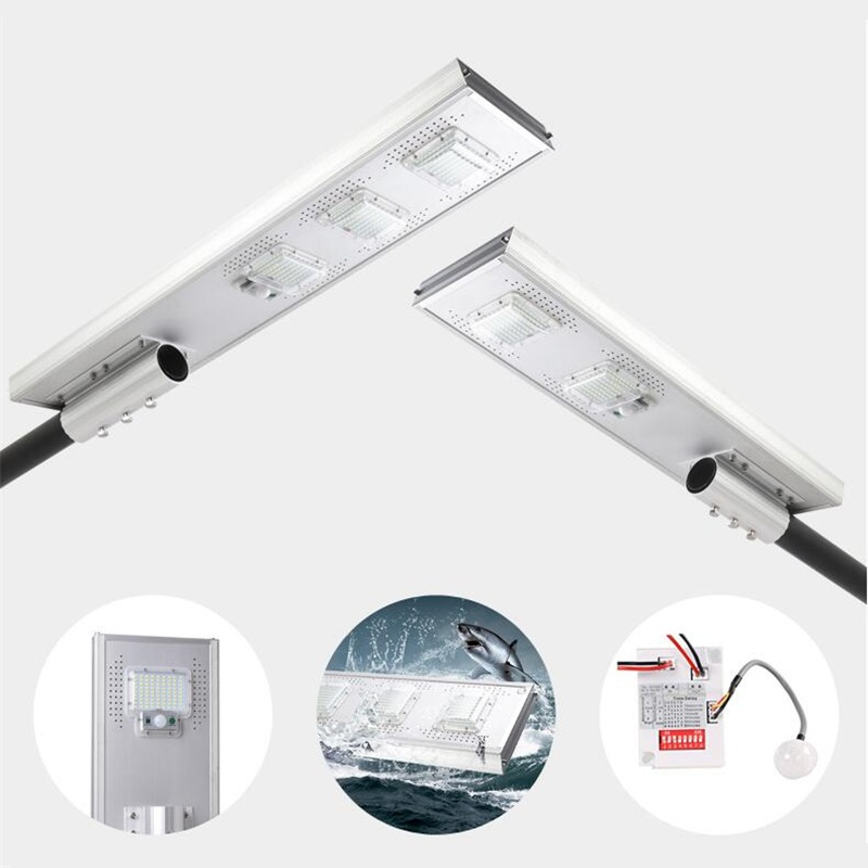 50W 100W 150W LED solar street light Outdoor Waterproof IP66 Integrated design 5 Working Modes PIR