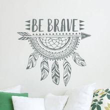 Dream Catcher Wall Art Decal Be Brave Arrow Vinyl Sticker Kids Room Home Decor Boho Bohemian Feather Stickers AY1315