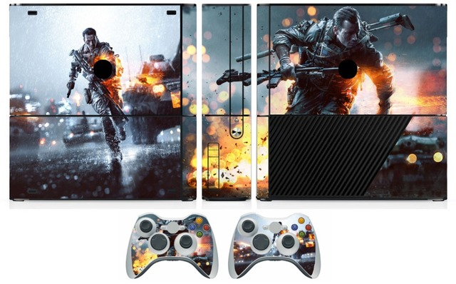 259 battlefield 4 vinyl skin sticker protector for microsoft xbox 360 e and 2 controller skins