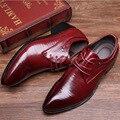 2016 Новое Прибытие Британский Стиль мужской Деловой случай Кожаные Ботинки Моды для Мужчин ботинки Платья Нежный Свадебные Квартиры 518