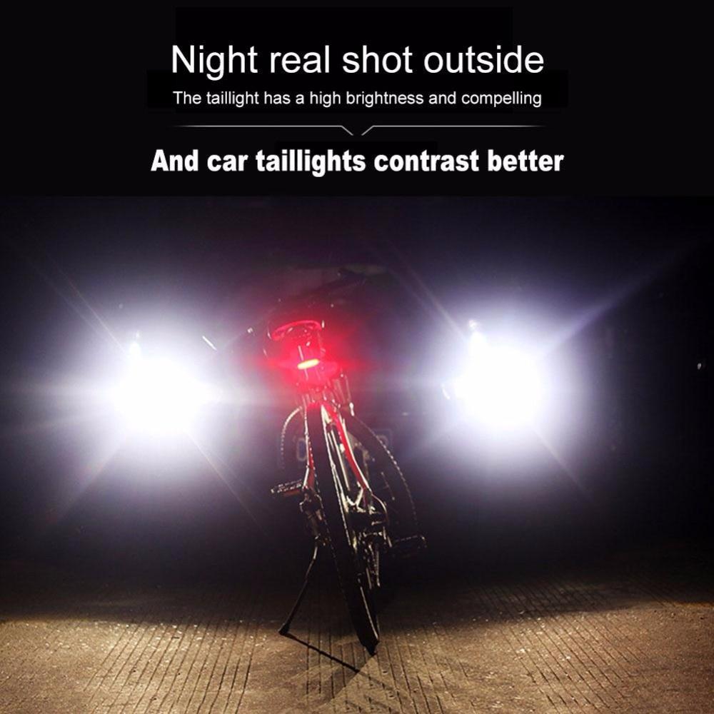 Deroace Cob Usb Rechargeable Sepeda Lampu Belakang Cahaya 5 Led 4 Mode Plus Keselamatan Peringatan Ekor Komet Bersepeda Bycicle Di