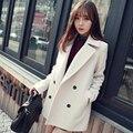 Новые женские Зимние Куртки и Пальто Одной Кнопки Элегантный Теплый женщины Шерстяное Пальто 2016 Сгущает Длинные Плюс Размер Женщин Пальто куртка