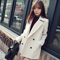 New Women's Winter Jackets and Coats Single Button Elegant Warm Women Woolen Coat 2016 Thicken Long Plus Size Women Coat Jacket
