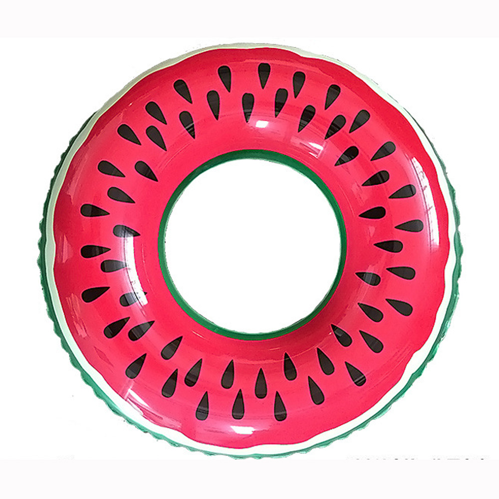 Pool Float Lovely Watermelon Swimming Ring Adult/Child Thicken Swimming Ring Floating Rings Inflatable Toy Life Buoy 60~90cm PVC Спасательный круг